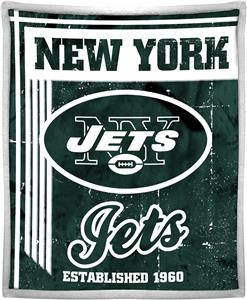 Northwest NFL Jets 50x60 Mink Sherpa Throw