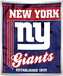 Northwest NFL Giants 50x60 Mink Sherpa Throw