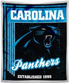 Northwest NFL Panthers 50x60 Mink Sherpa Throw