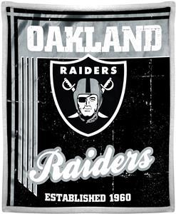 Northwest NFL Raiders 50x60 Mink Sherpa Throw
