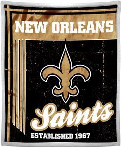 Northwest NFL Saints 50x60 Mink Sherpa Throw