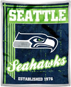 Northwest NFL Seahawks 50x60 Mink Sherpa Throw