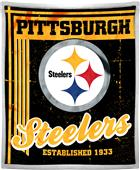 Northwest NFL Steelers 50x60 Mink Sherpa Throw