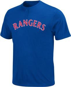 Majestic 2-Button Rangers MLB Baseball Jersey