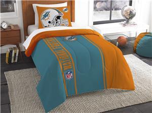 Northwest NFL Dolphins Twin Comforter & Sham