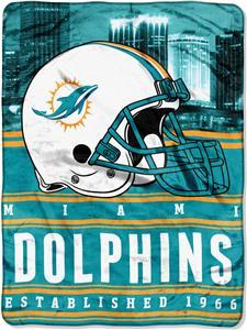 Northwest NFL Dolphins 60x80 Silk Touch Throw