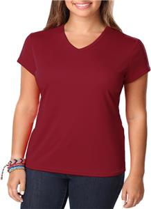 Blue Generation Womens Moisture Wicking V-Neck Tee