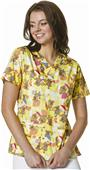 WonderWink Origins Womens Bravo Print Scrub Top
