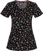HeartSoul V-Neck Scrub Top You Skull My Heart