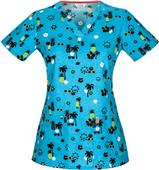 Code Happy V-Neck Scrub Tops