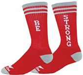 Red Lion Be Strong Crew Socks - Closeout