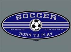 Closeout - Born to Play Soccer tshirt AXXL & AXL