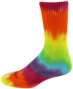 Pro Feet Tie Dyed RAINBOW Crew Socks