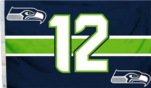 NFL Seattle Seahawks 3'x5' Flag w/Grommets