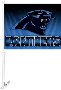 "NFL Carolina Panthers 2-Sided 11"" x 14"" Car Flag"