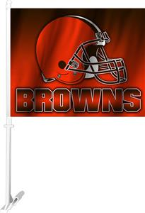 """NFL Cleveland Browns 2-Sided 11"""" x 14"""" Car Flag"""