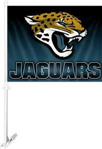 "NFL Jacksonville Jaguar 2-Sided 11"" x 14"" Car Flag"