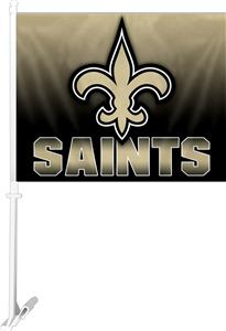 "NFL New Orleans Saints 2-Sided 11""x14"" Car Flag"