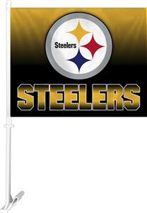 "NFL Pittsburgh Steelers 2-Sided 11""x14"" Car Flag"