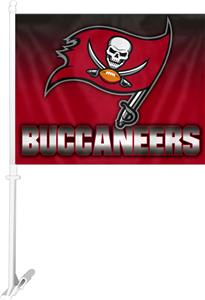 "NFL Tampa Bay Buccaneers 2-Sided 11""x14"" Car Flag"