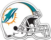 "NFL Miami Dolphins 12"" Die Cut Vinyl Car Magnet"