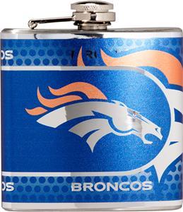 NFL Denver Broncos Stainless Steel Flask