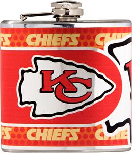 NFL Kansas City Chiefs Stainless Steel Flask