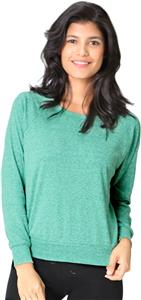 Royal Apparel Womens Triblend L/S Raglan Pullover