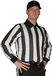 """Cliff Keen 2"""" Stripe Football Officials L/S Shirt"""