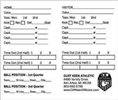 Cliff Kenn Football Game Card