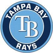 Fan Mats MLB Tampa Bay Rays Roundel Mat
