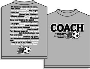 Coachisms Soccer Short Sleeve T-shirt