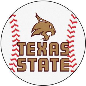 Fan Mats Texas State University Baseball Mat