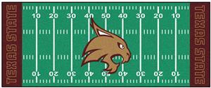 Fan Mats Texas State Univ Football Field Runner
