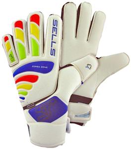 Sells Total Contact Aqua Flat Palm Goalie Gloves