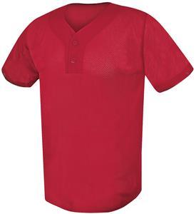 Protime Two-Button Mesh Baseball Jerseys C/O
