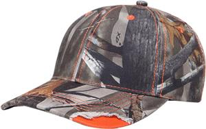 Pacific Headwear Distressed Hunters Camo Caps