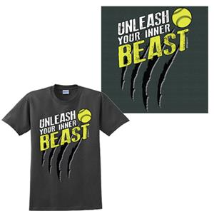 Image Sport Unleash Your Inner Beast Softball Tee