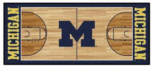 Fan Mats Univ. of Michigan Basketball Court Runner