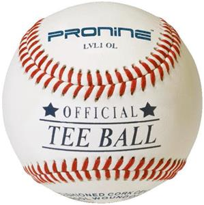 Pro Nine Official Tee Ball Raised Seam Baseballs
