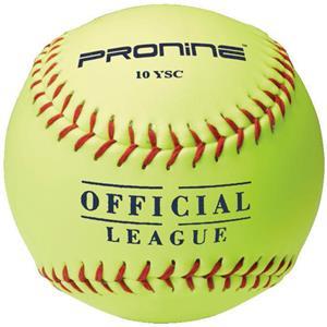 Pro Nine Official League Yellow Softballs (DZ)