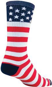 "Sockguy USA Flag 8"" Crew Cuff Socks"