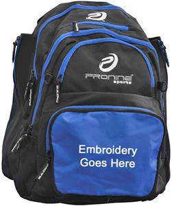 Pro Nine Baseball Backpack Holds 2 Bats