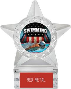 "Hasty Awards 6"" Star Ice Patriot Swimming Trophy"