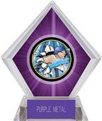 Hasty Awards Purple Diamond Swimming Ice Trophy