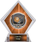 Shield Basketball Orange Diamond Ice Trophy