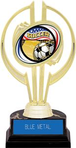 "Awards Gold Hurricane 7"" Americana Soccer Trophy"