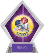 Hasty Awards HD Cheer Purple Diamond Ice Trophy