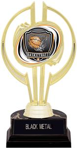 "Gold Hurricane 7"" Shield Basketball Trophy"