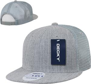 Decky Flat Bill 6-Panel Trucker Caps